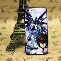 Wholesale New Anime Handsome Gundam seed Skin Hard Plastic Back Cover Cell Phone Case For Apple iPhone S iPhone C iPhone S