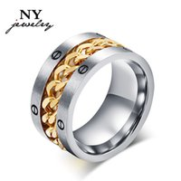 big cocktail rings - fashion men s chain ring stainless steel large big cocktail rings for man party accessories