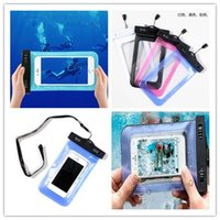 Wholesale Iphone plus Waterproof case samsung galaxy s6 s5 mobile phones waterproof dry cell phone water proof neck pouch bags for i6