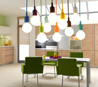 Wholesale MJJC Modern Vivid Colorful E27 Silicone Ceiling Lamp Holder Light Socket M Length Cord For Home DIY Hanging Pendant Lighting V