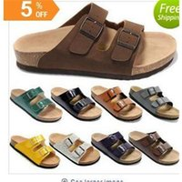 Wholesale Fashion Birkenstock Men Flat Sandals Platform Cheap Summer Slippers Home Casual Beach Sandals High Quality
