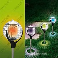 Cheap Outdoor Solar Powered Colorful Glass Landscape Spot Lights Garden Solar Outdoor Lawn Lights Floating Lights Free Shipping