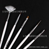 Wholesale The new printing nail tools necessary cable mink brush strokes crystal pen light therapy pen set