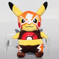 Poke peluche Pikachu XY cosplay peluche animaux en peluche jouets en peluche Avec Masque Grimace 22cm Livraison gratuite