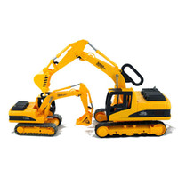 backhoe truck - 1 Backhoe Car Model Kids Toys ABS Plastic Miniature Trucks Vehicle Model Toy for Children Birthday Present
