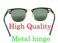 mens sunglasses - High Quanlity Sunglasses Metal hinge Sunglasses Plank black Sunglasses black sun glasses mens sunglasses womens glasses glitter2009