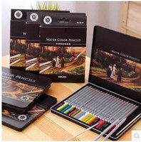 artists christmas - 24color color color color Art Drawing Pencils Wood Water color Pencils for Secret Garden Artist Sketch Kids Christmas Gift with box