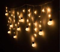 Wholesale Super bright LED Xmas Warm Globe Ball Garden Room Tree Party Decor String Fairy Bulb Light for christmas hallowmas festival decoration