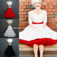 Wholesale 3 Layers Tiered Plus Size Nylon Bridal Petticoats Underskirt Crinoline Slips For Weddings Short Tea Length Evening Prom Dresses Accessories
