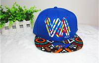 Wholesale Popular Newest Mens Fashion VA Muliticor Print Panel Street Dancing Hat Baseball Cap Cool Hat
