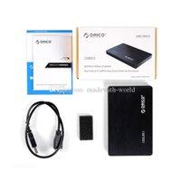 De calidad superior ORICO 2588S3 2,5 pulgadas SATA 6Gbps 3.0 Habilitado USB Tool Free 3.0 D3431A HDD Externo plástico ABS