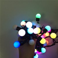 christmas lights color led - 50 LED RGB Modeling Round Ball String Light Christmas Wedding Party Garden Tree Decor Fairy Rice Light changeable color