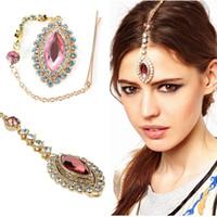 unique hair accessories - Unique Eye Drop Shape Hair Pin Clip Tikka Headpiece Hair Jewelry Hair Accessories