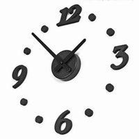 Wholesale Room Home Decoration DIY Wall Clock Unique Large number Stickers Self Adhesive home Decor Modern Wall Clocks