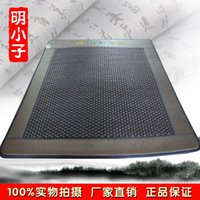 Wholesale Authentic Blessing Hexagonal Germanium Ocher Stone Mattress Dual Temperature Control Heating Tourmaline Health Mattress Jade Mat