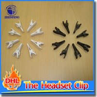 Wholesale Headphones Clip Universal MP3 MP4 Headset Clamp Clip For Headphone Earphone Cable Plastic Material Black White