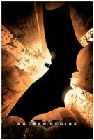 begin figure - Batman Begins Movie Silk Fabric Poster x36inch Wall Decor