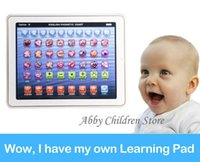 Wholesale New Version Lignted Baby Kid Child Touch Laptop Learning English Electronic Tablet Pad Educational Learning Machine Toy Gifts
