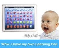 venda por atacado children laptop-Presentes Nova Versão Lignted bebê Kid Criança Toque Laptop Aprender Inglês eletrônico Tablet Pad Aprendizagem Educacional Toy Máquina