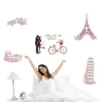 attraction world - World famous attractions DIY Vinyl Wall Stickers Home Decor Art Decals Wallpaper Bedroom Sofa house decoration adesivo de parede