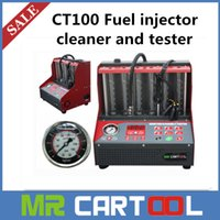 fuel injector cleaner tester - 2015 New Arrival CT100 Fuel injector cleaner tester V V with English panel Better than Lanuch CNC A CNC602A DHL FEDEX Shipping