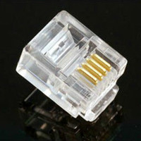 Wholesale 5000Pcs High Qulaity Pin Contacts RJ11 RJ Adapter Modular Plug P6C Telephone Phone Connector Crystal Head