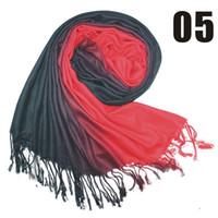 Wholesale FASHION Double color gradient Cashmere scarf pashmina scarves shawls Ponchos wraps silk scarf cm