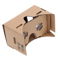 Wholesale Google VR D Glasses virtual reality DIY Google Cardboard Virtual Reality VR Mobile Phone D Viewing Glasses for quot Screen