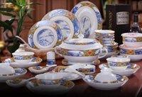 authentic jobs - Jingdezhen ceramic tableware suit bowls plates suit Authentic bone porcelain tableware with jobs