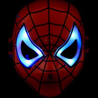 best easter decorations - Superhero Avengers Spiderman LED Flash Mask COSPLAY Party Decoration Mask For Halloween Xmas Kids Adults Best Gifts