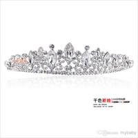 2014 Hot Sale Romatic Shiny Diadèmes Coiffes Cheveux Cristaux Tiaras mariée mariage Ensembles de bijoux