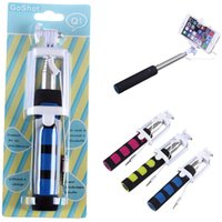 Cheap Q1 Wired Monopod Selfie Stick Cell Phone Clip Holder Remote Controller With Strench All in One For iPhone 5 5S 6 Plus Samsung S5 S6 Note 4 5