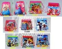 Wholesale set Popular Princess Cartoon Environmental Protection Bags Draw String Backpack