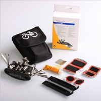 Wholesale Bike Bicycle Tyre Rubber Patch Repair Multifunctional Tool Set Kit in kit Metal Rasp