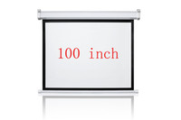Wholesale 100 inches Wall Mounted Motorized Matt White HD Projection Screen with remote