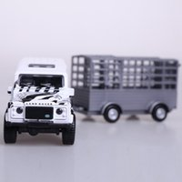 best box trucks - Brand ETI pull back with sound and light diecast car alloy wild animal truck in original gift box best kids gift