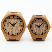 Wholesale 2015 Classic Bamboo Watch Analog Unisex Wooden Watches Casual Quartz Luxury Watches For Men Women lover gifts Accept Customization OEM