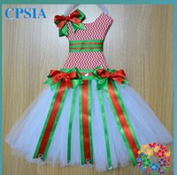 Wholesale HOT chevron baby dress lovely zig zag pattern bow holder tutu bow holder dress chevron dress christmas dress