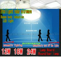 microwaves - 5730 W W W LED lamp Intelligent radar microwave Human body induction LED to absorb dome light ceiling lights retrofit light source