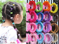 Cotton color rubber hair bands - children ponytail holder summer style candy color girl hair accessories ultra high elastic rubber band hair ring headwear HX