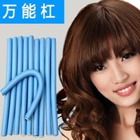 Wholesale cm width pieces Hair Curling Flexi rods Magic Air Hair Roller Curler Bendy Magic Styling Hair Sticks Rollers Curlers