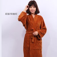 bathrobe toweled - 2016 bathrobes terry toweled cotton thick autumn and winter lovers bathrobe hot selling size xs xl