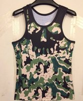 camouflage tank top - Magic like army clothing green men camouflage vest summer new tank tops