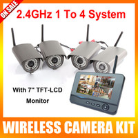 Wholesale 2 Ghz Digital Video Security Camera System Wireless Ch With LCD Monitor Long Range Home Wireless CCTV Camera DVR Kit Max GB