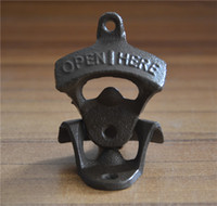 Wholesale Wall mounted opener beer bottle opener cast iron retro opener for kitchen factory direct sale new fashion opener