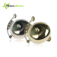 Wholesale ROCKBROS For Bike Bicycle Metal Ring Handlebar Sound Alarm Copper Ring Bell Horn Silver Copper