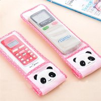 Wholesale Hot Sales TV Air Conditioning Remote Control Cover Dust Housekeeping Cute Animals Plush Plastic JH41