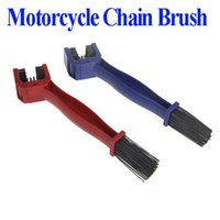 Wholesale Cycling Motorcycle Bicycle Chain Crankset Brush Cleaner Cleaning Tool Blue Red pc dropshipping wholesales
