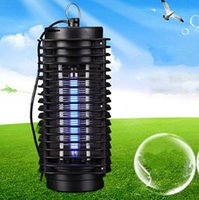 mosquito killer outdoor - 110V V Electric Mosquito Bug Zapper Killer LED Lantern Fly Catcher Flying Insect Patio Outdoor Camping Lamps Black Portable Lanterns
