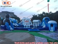 Wholesale ice world theme water park inflatable portable inflatable slides water park water pool park projects